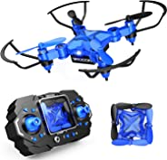 DROCON Mini Drone for Kids, Scouter Foldable Beginner drone with Altitude Hold/3D Flips/Self-Rotating/Headless Mode/One-Key