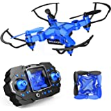 DROCON Mini Drone for Kids, Scouter Foldable Beginner drone with Altitude Hold/3D Flips/Self-Rotating/Headless Mode/One-Key T