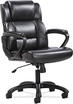 HON Sadie Leather Executive Chair With Arms