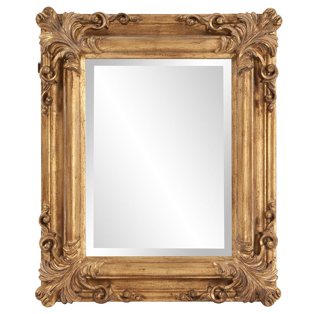 Howard Elliott Edwin Rectangular Mirror, 19 x 23-Inch, Rustic Antique Gold