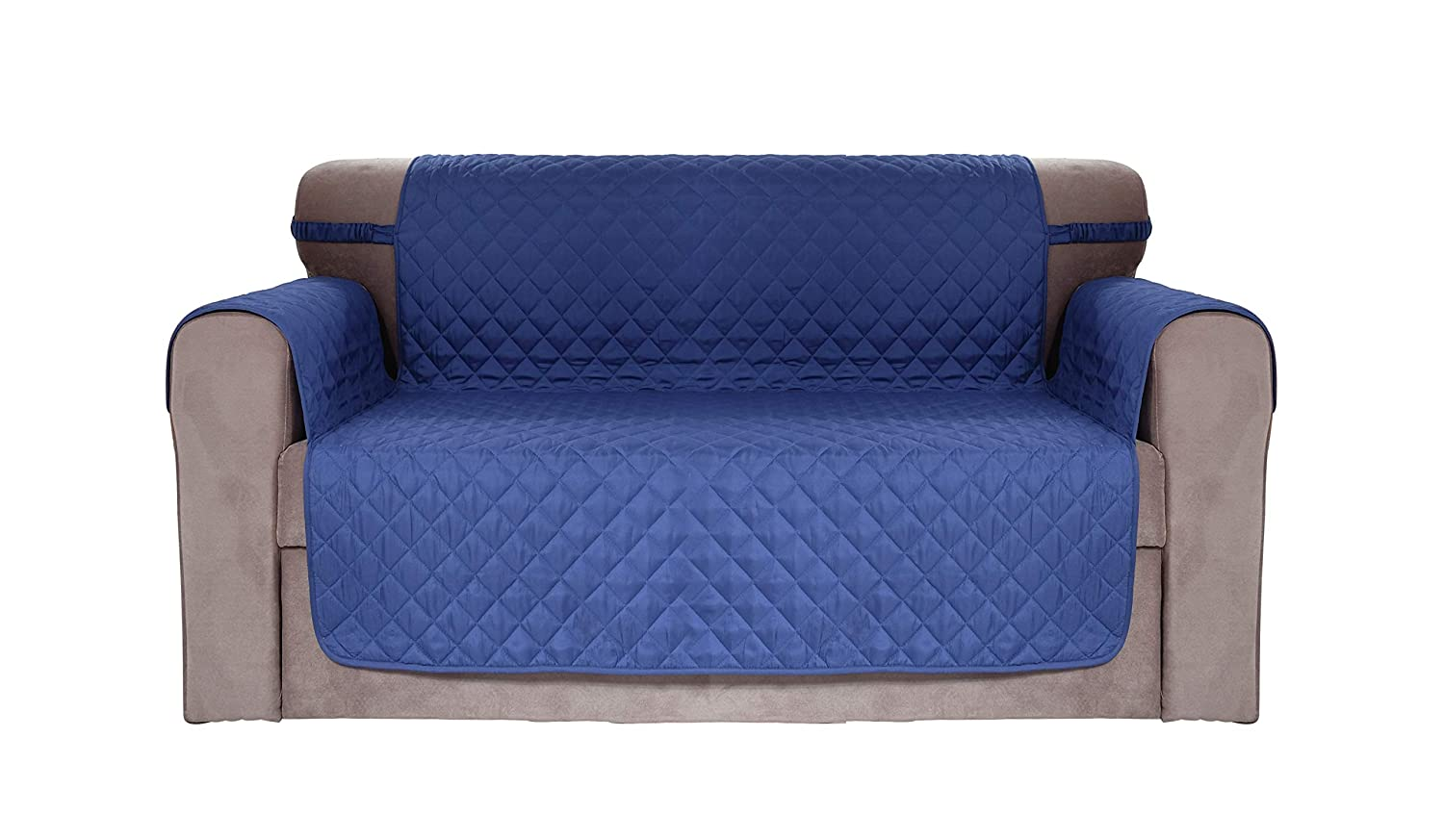 Chiara Rose Waterproof Couch Covers for Dogs Sofa Cushion Slipcover 2 Seater Furniture Protectors, Loveseat, Navy