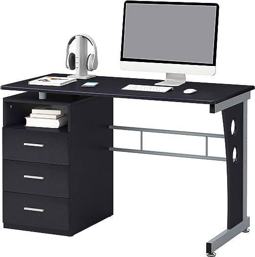 SixBros Computertisch Computerschreibtisch schwarz S-104//2082
