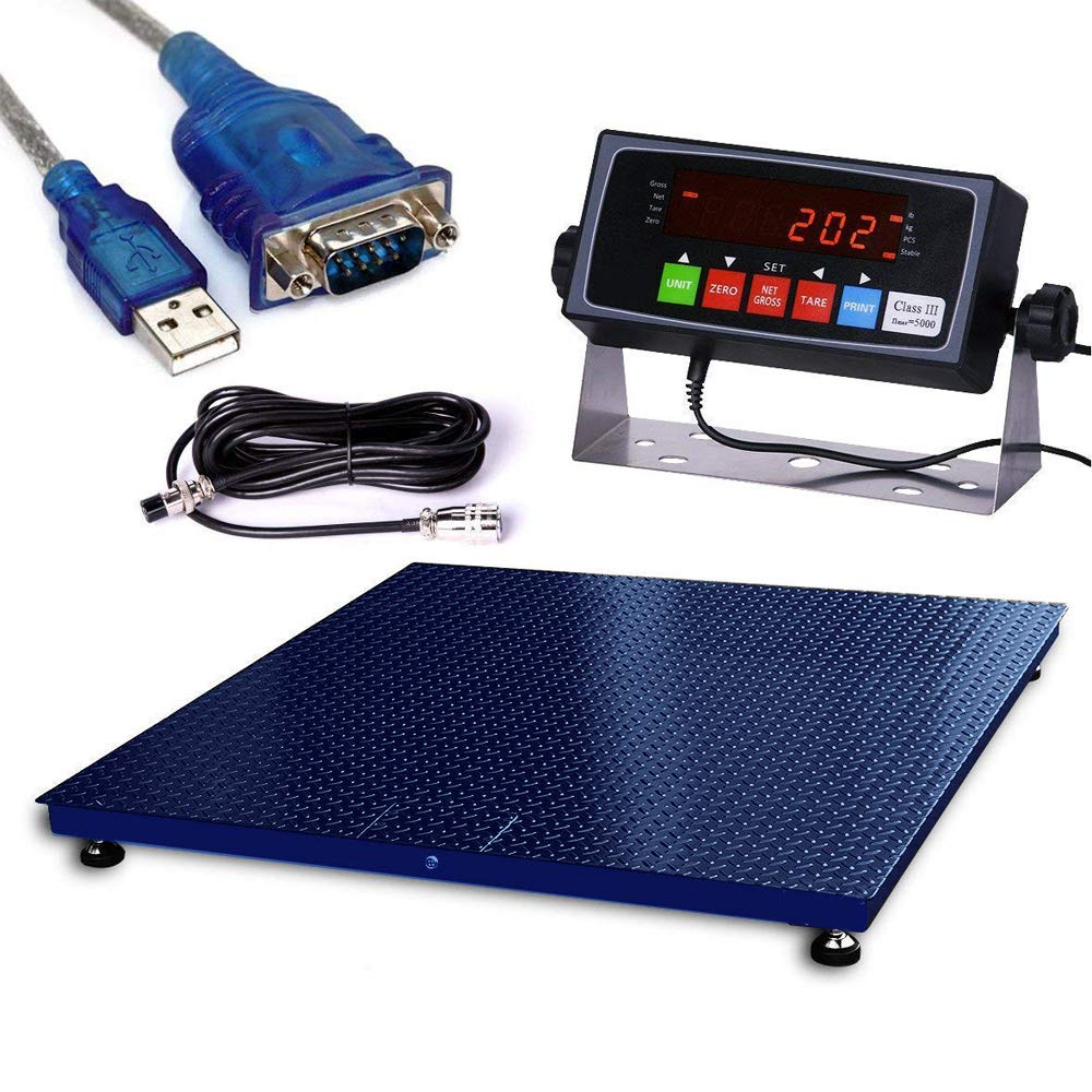 36x36 PEC Scales Warehouse Heavy Duty Industrial Pallet Smart Floor Scale with Indicator
