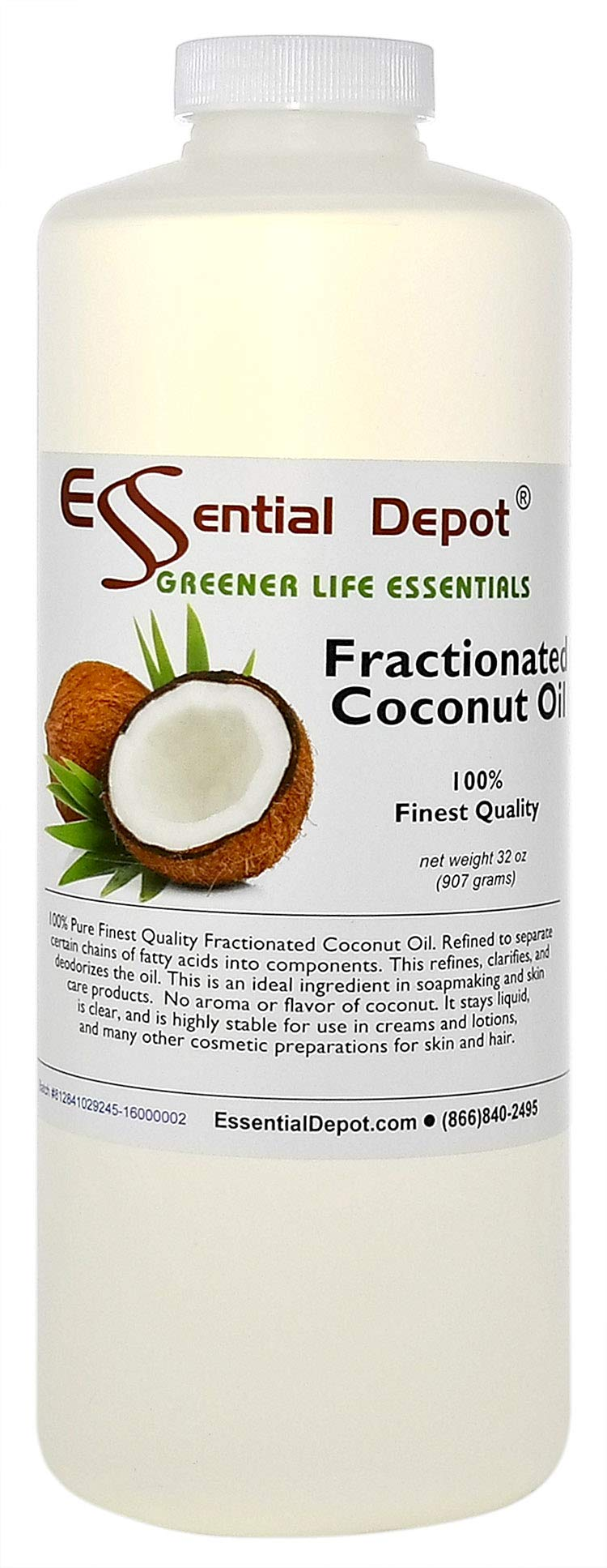 Coconut Oil - Fractionated - MCT Oil - 1 Quart - 32 oz