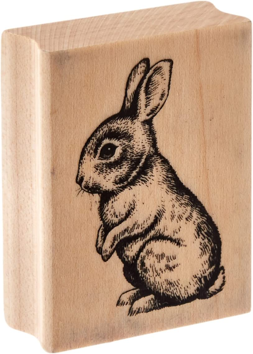Inkadinkado Baby Bunny Wood Stamp for Easter Cards and Scrapbooking, 2.25'' W x 1.75'' L