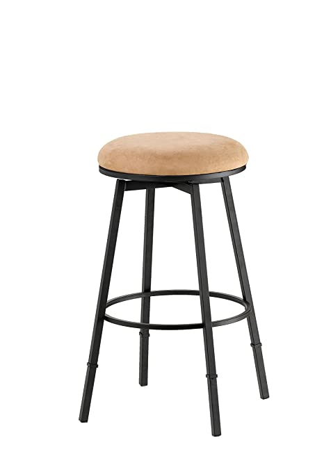 7f231973cb3414 Image Unavailable. Image not available for. Color: Hillsdale Furniture  4149-831 Adjustable Backless Bar Stool Black/Brown