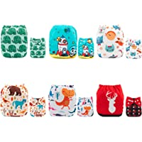 ALVABABY Pocket Cloth Diapers Reusable Washable Adjustable for Baby Boys and Girls ,6 Pack with 12 Inserts 6DM33-AU