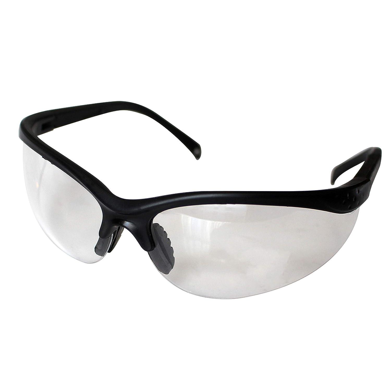 d339c8d6bf al Usar Químicos y Más Pack 12 Gafas de Seguridad Negras Lentes  Transparentes Protectoras por Kurtzy ...
