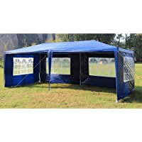 3m x 6m Gazebo Outdoor Marquee Tent Canopy Blue