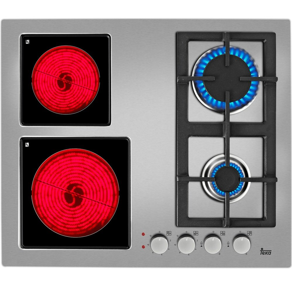 Teka EFX 60 2G 2H AI AL CI Integrado Combi Acero inoxidable - Placa (Integrado, Combi, Acero inoxidable, Acero inoxidable, 1000 W, 1200 W)