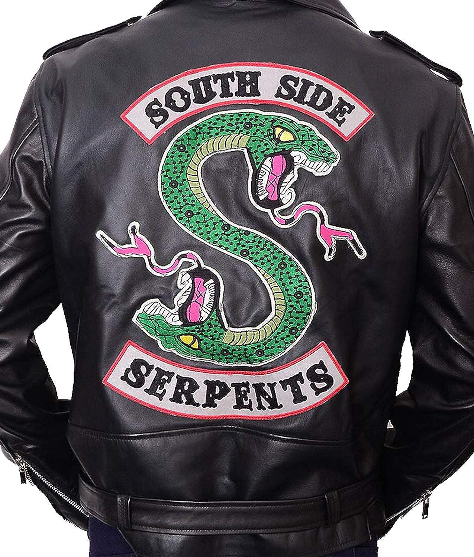 Hemskin Riverdale Cole Sprouse Jughead Jones Southside Serpents Real Leather Jacket