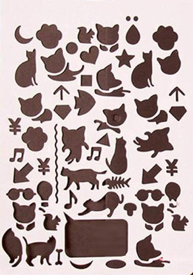 Stencil de plástico para Tienda de isacrea 26 x 18 cm: Gatos: Amazon.es: Hogar