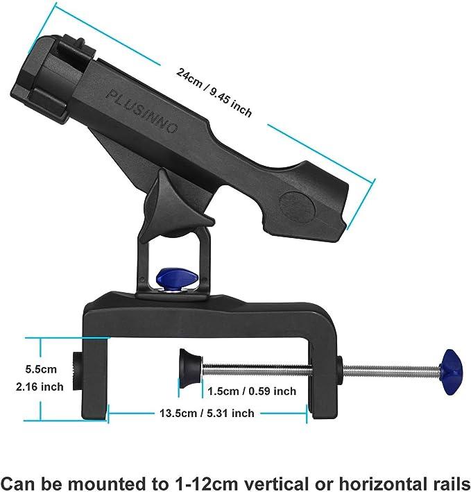 Dibiao Support de canne /à p/êche durable avec vis pour bateau gonflable