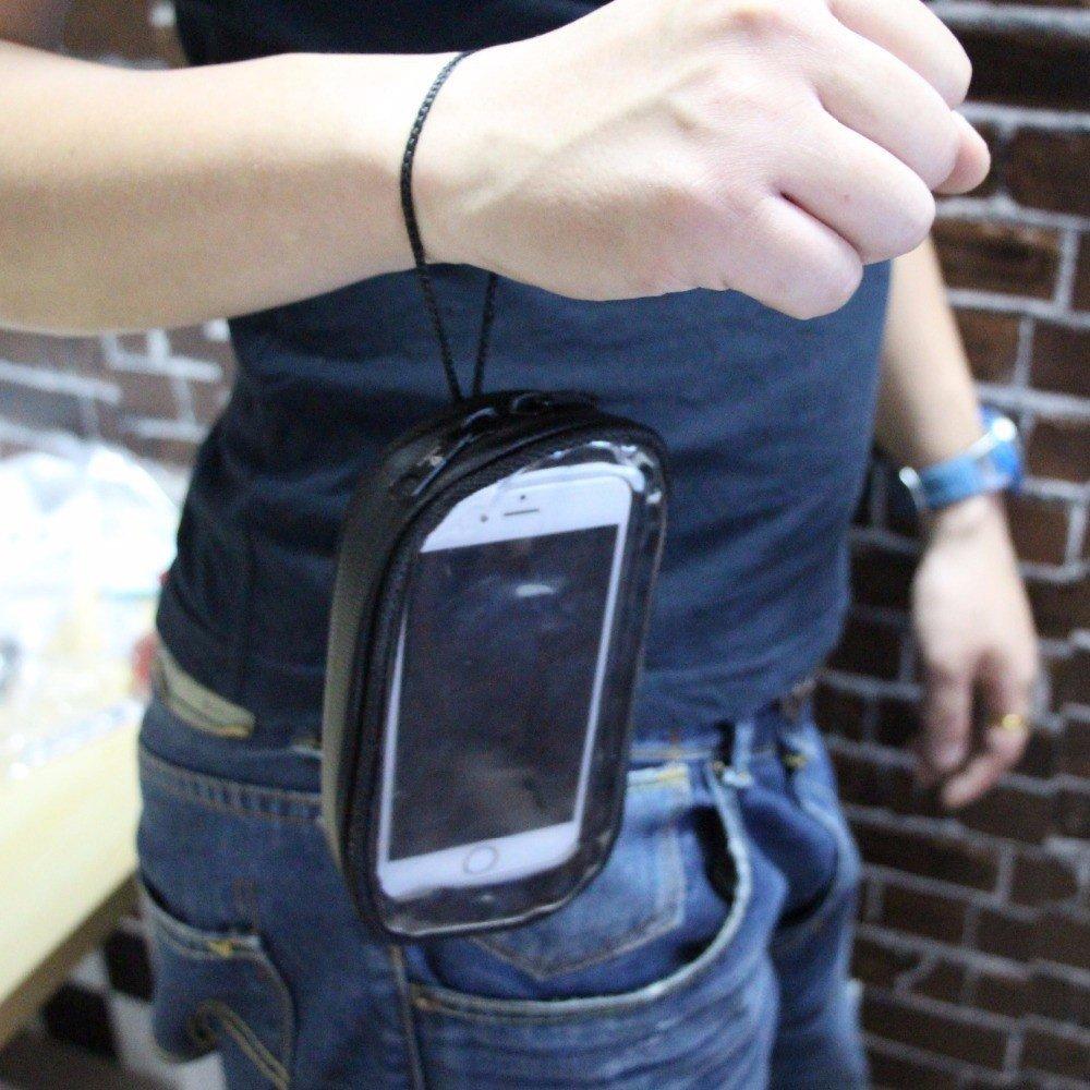 KKmoon Sacchetto di navigazione del telefono del motociclo L Borse moto impermeabili per cellulare touch screen Borse serbatoio moto Nero
