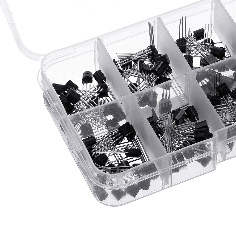200 Unidades Transistor BC337 BC327 Kit Surtido 2N2222 2N2907 2N3904 2N3906 S8050 S8550 A1015 C1815 10 Valor Box Transistores ILS