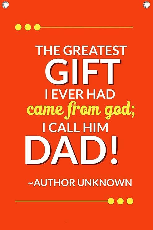 Amazon com: Father's Day Quote - 12 X 18