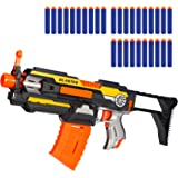 X TOYZ Motorized Blaster, Electric Blaster Shooting Gun, 30 Official Darts Compatible with Nerf Guns, 1 Butt and 1Dart Clip,
