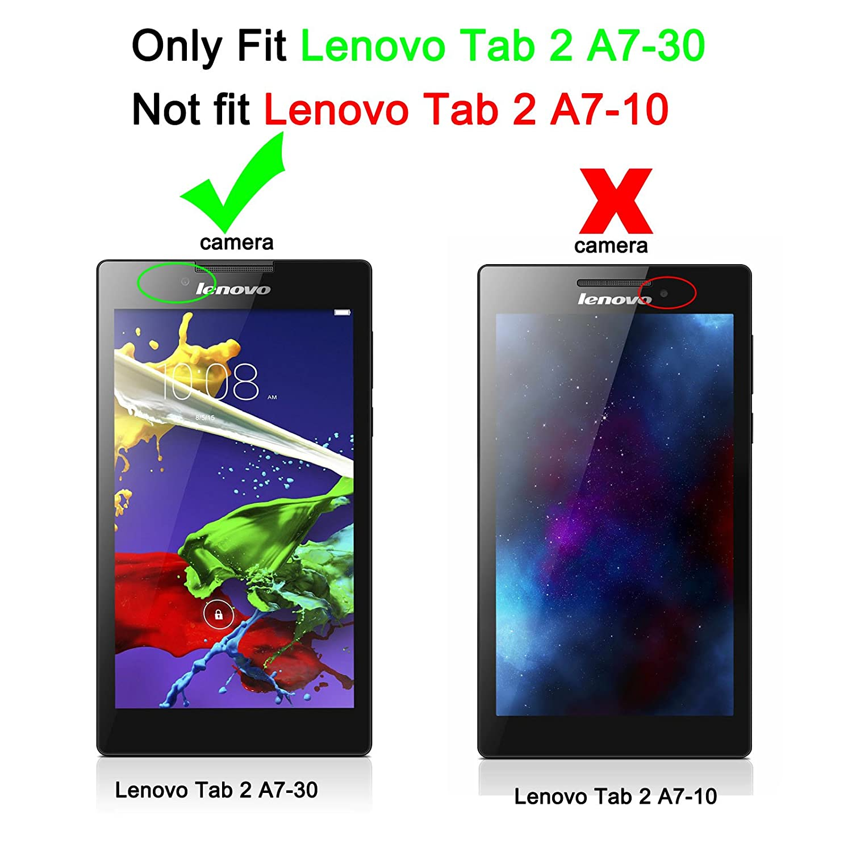 Infiland Lenovo Tab 2 A7 30 Shell case Ultra Slim Tri Fold Case cover for Lenovo Tab 2 A7 30 7 Inch Tablet ly fit for Lenovo Tab 2 A7 30 7 Inch Tablet