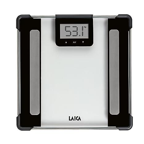 Laica PS5010NE - Báscula de baño inteligente de composición corporal, capacidad 150 kg, color