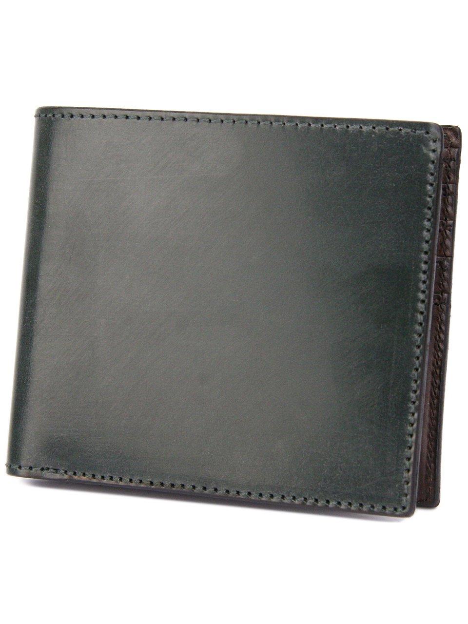 [コルボ] CORBO. -face Bridle Leatherフェイス ブライドルレザー シリーズ 二つ折り財布 1LD-0228 CO-1LD-0228 B006G4HEU8 ダークグリーン ダークグリーン