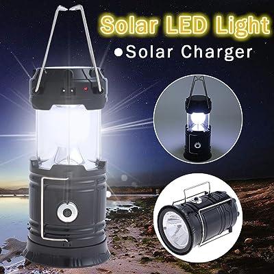 énergie solaire LED rechargeable lampe de poche Tente de camping lumière lampe torche Lanterne la