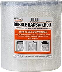 U-Haul Enviro-Bubble Frames More Bulk Roll 250 of Small Bubble Padding /& Protection for Fragile Decor Dishes Glassware