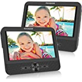FANGOR 7.5 Dual Screen DVD Player for Car Portable CD Players with 5 Hours Rechargeble Battery, Free Regions, Last Memory, US