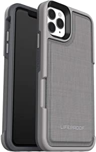 LifeProof FLIP SERIES Wallet Case for iPhone 11 Pro Max - Non Retail Packaging - CEMENT SURFER (WET WEATHER/SLATE GREY/CAPRI)
