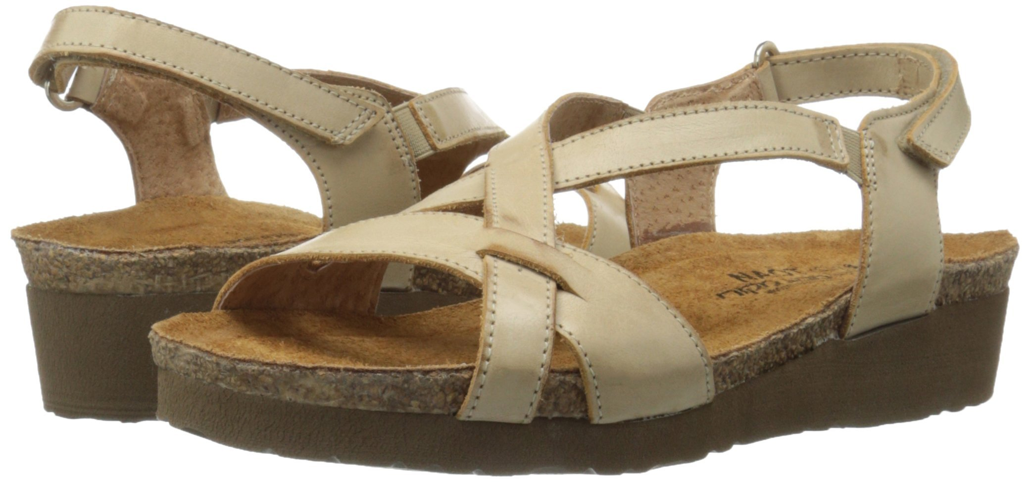 Naot Women's Bernice Wedge Sandal, Biscuit Leather, 35 EU/4.5-5 M US by NAOT (Image #6)