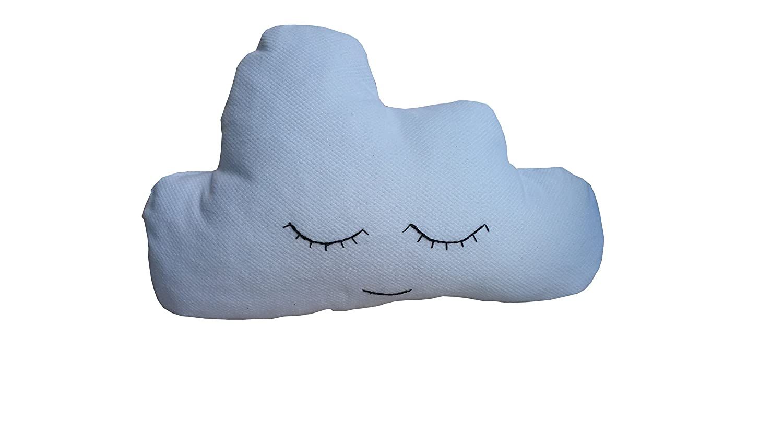 Cojin nube azul con ojitos bordados Cojin nube infantil ...