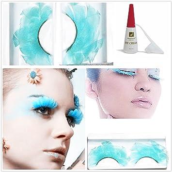 d779b0da64d Beauty II Girl Lady Fancy Dress Dance Party Makeup Feather False Eyelashes  Eye Lashes Thick Extra