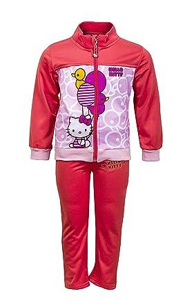 Hello Kitty - Chándal - para niña Rosa Rosa Oscuro: Amazon.es ...