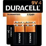Duracell Coppertop Alkaline 9 Volt Batteries- 4 Count Doublewide