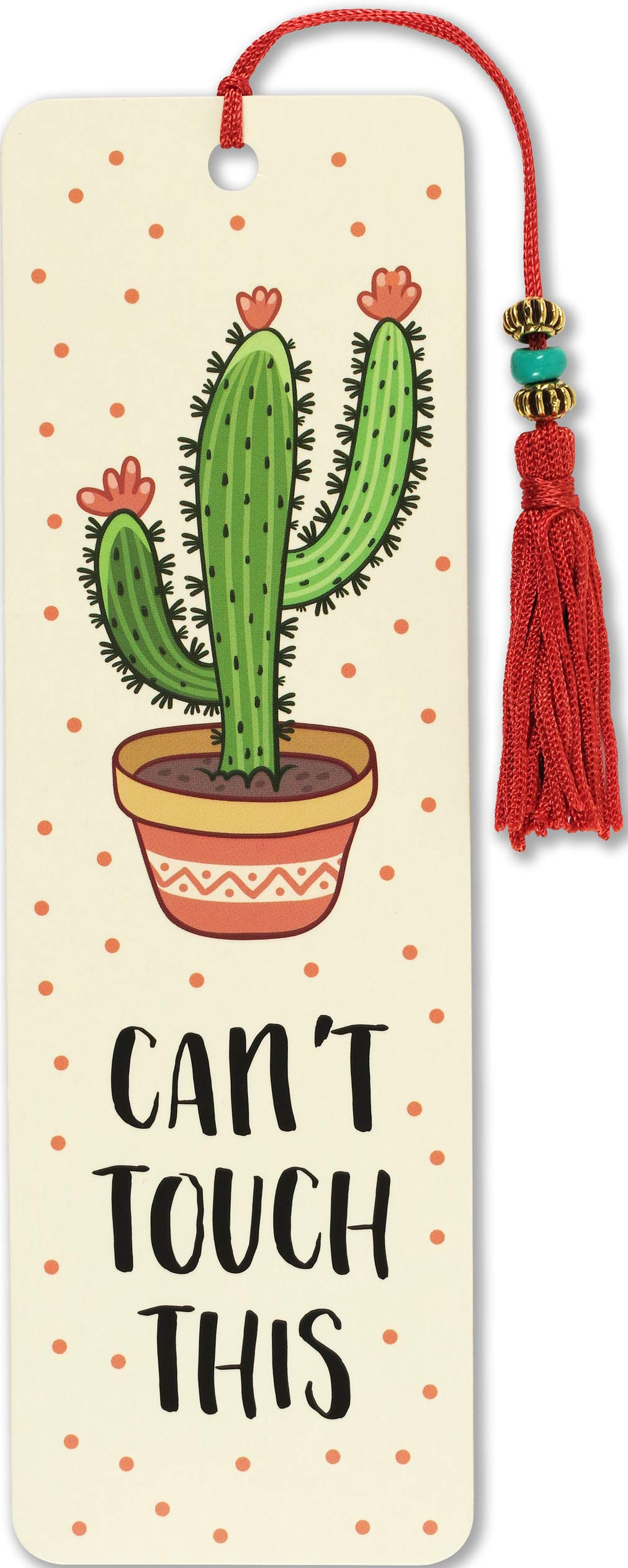 Cant Touch This Beaded Bookmark product image