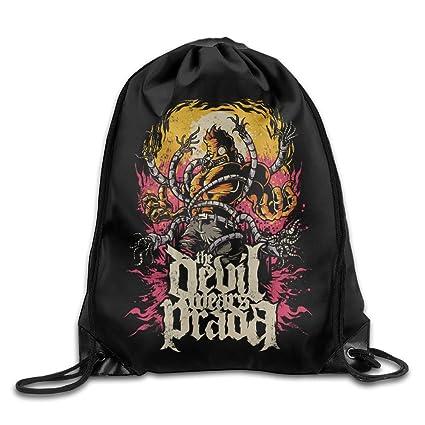ef537b916898 Amazon.com: THE DEVIL WEARS PRADA Band Port Bag Drawstring Backpack ...