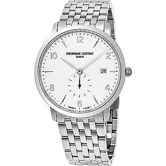 Frederique Constant Men s Slimline Swiss-Quartz Watch with Stainless-Steel  Strap cc509744ba6