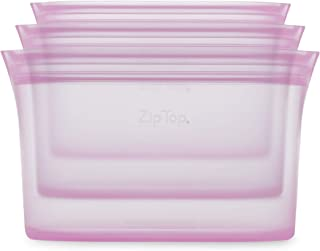 product image for Zip Top Reusable 100% Silicone Food Storage Bags and Containers - 3 Dish Set - Lavender
