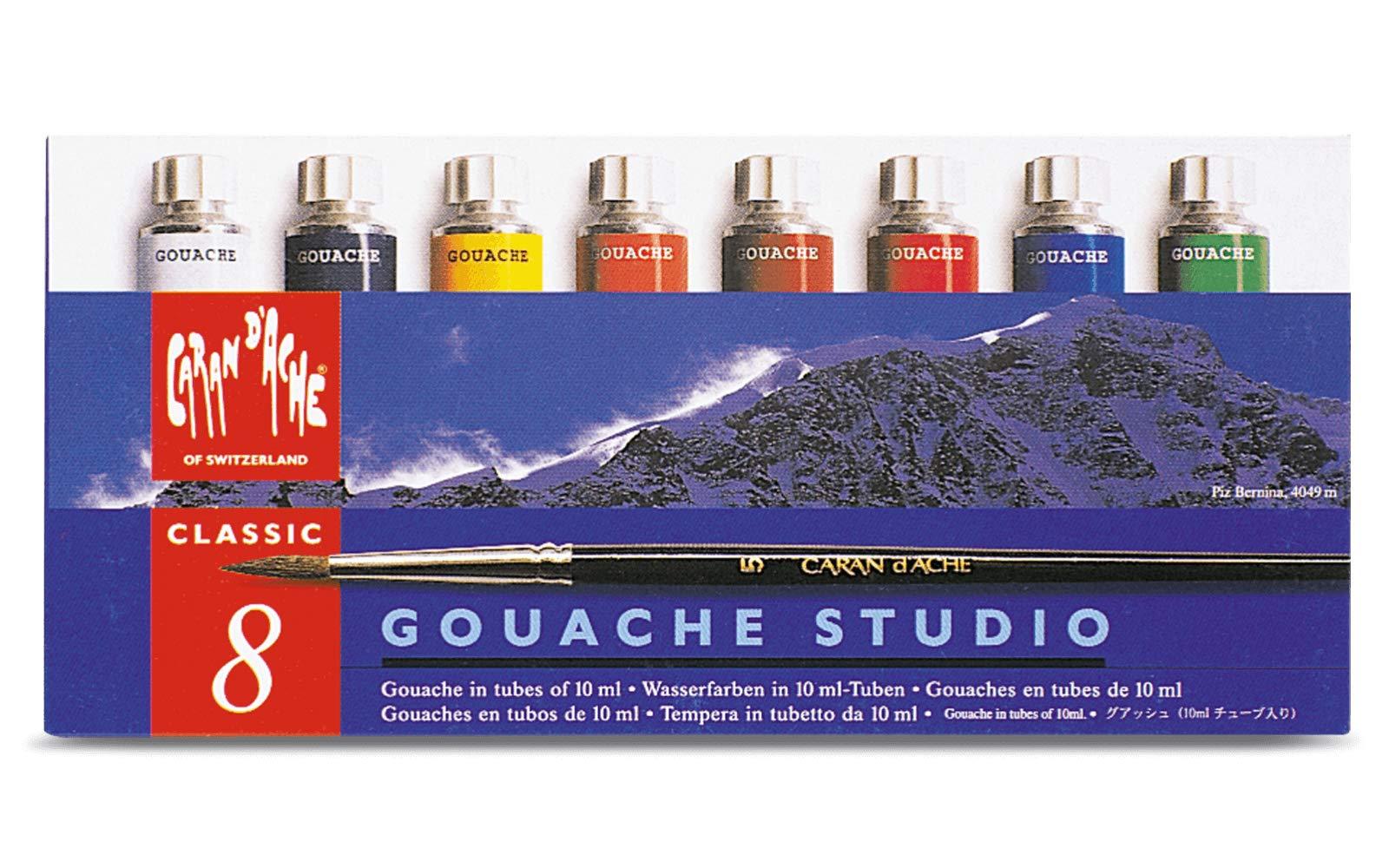 CARAN DACHE Tempera Gouache Studio Tubos 8 Colores (2001.408
