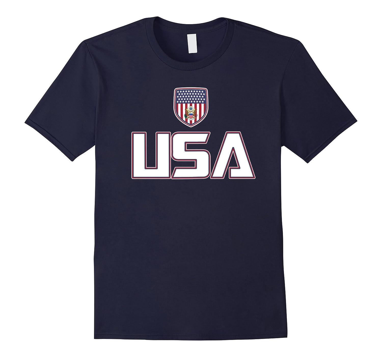 USA Red White Blue T-shirt American Flag U.S.A Stars Stripes-CL