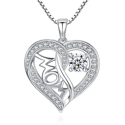 Mother and Daughter Son 925 Sterling Silver Necklace Pendant For Women Mum 18