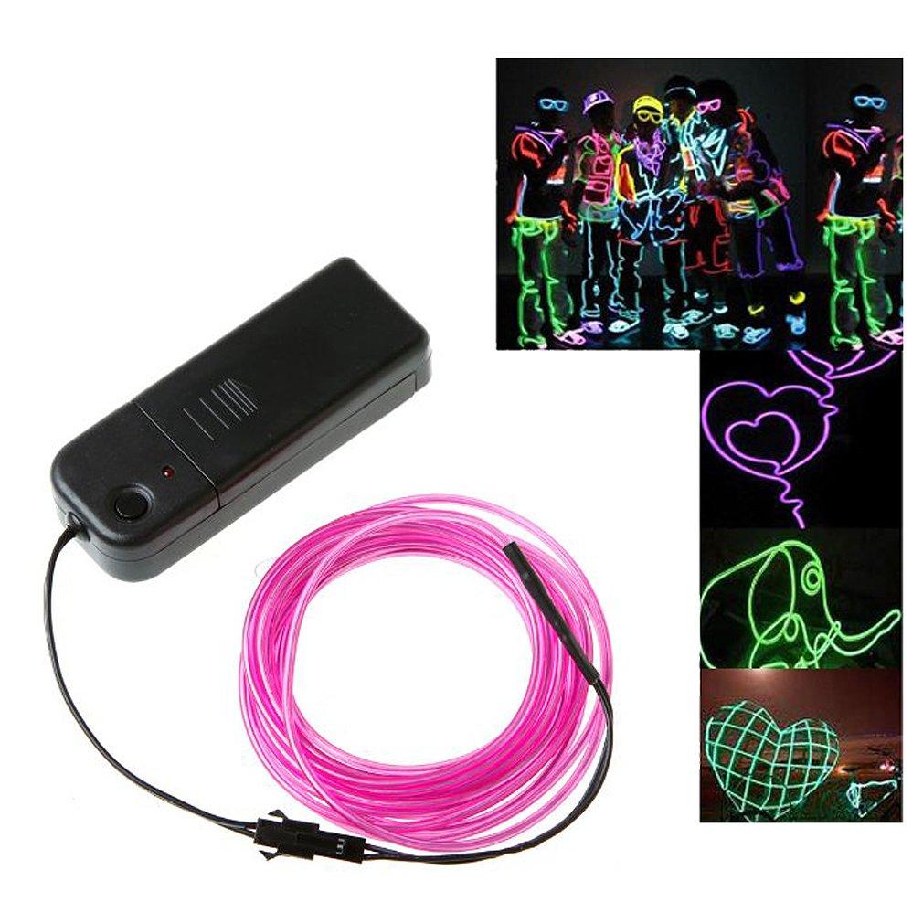 Amazon.com: Docooler 3M Flexible Neon Light EL Wire Rope Tube with ...