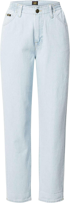 Lee Damen Elasticated Mom Jeans Bleached Ore