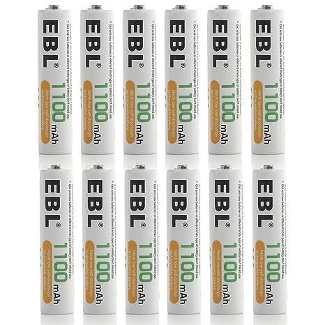 Amazon.com: Baterías recargables de EBL, en ...