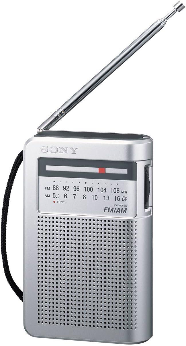 Sony ICFS22 - Radio portátil FM/AM, color plateado: Amazon.es: Electrónica