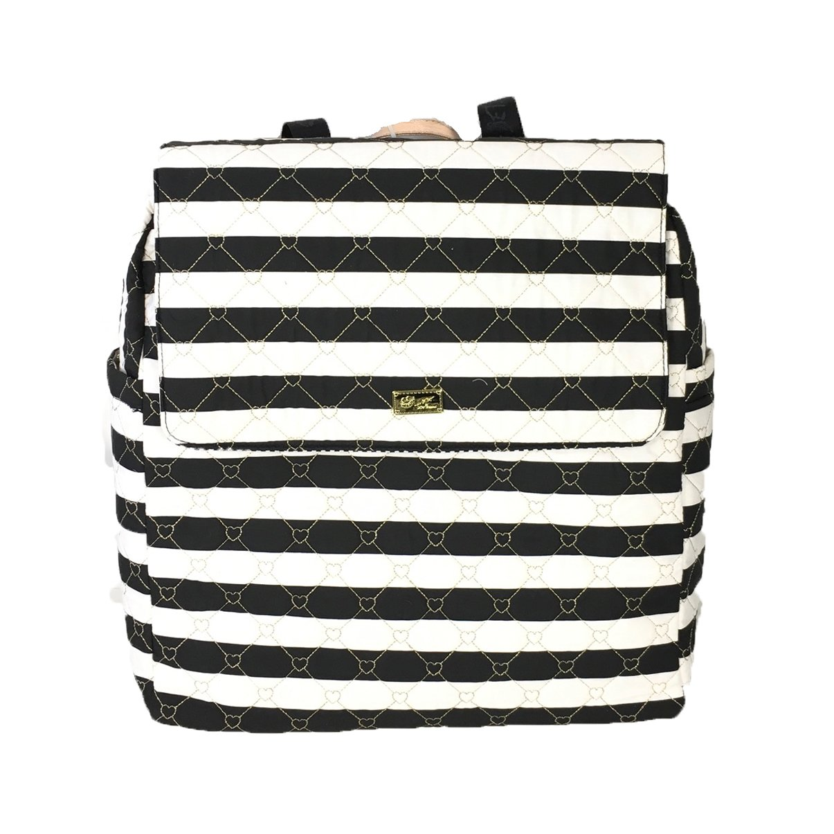 Luv Betsey Women's Willow Oversize Travel Cotton Backpack with Luggage Pass Through Stripe One Size