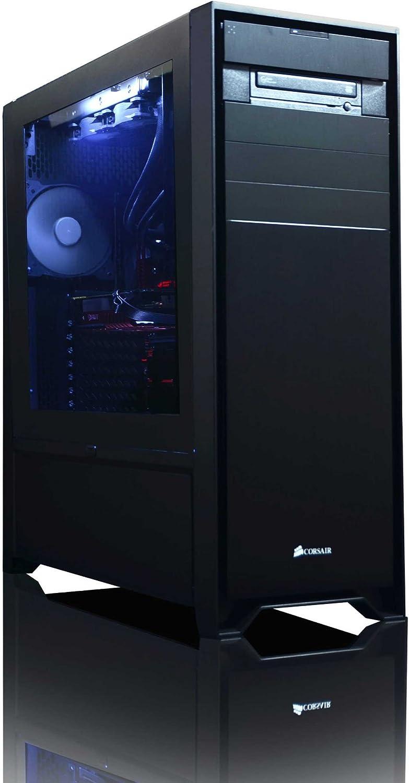 27 HD Monitor Win 10 4,4GHz Intel i7 X 8-Core, Nvidia GeForce RTX 2070 Tarjeta Grafica, 32GB DDR4 RAM, 480GB SSD, 3TB HDD VIBOX Limitless 4 Gaming PC Ordenador de sobremesa con Cup/ón de Juego