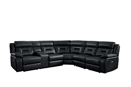 Amazoncom Homelegance Amite 7 Piece Power Reclining Sectional With