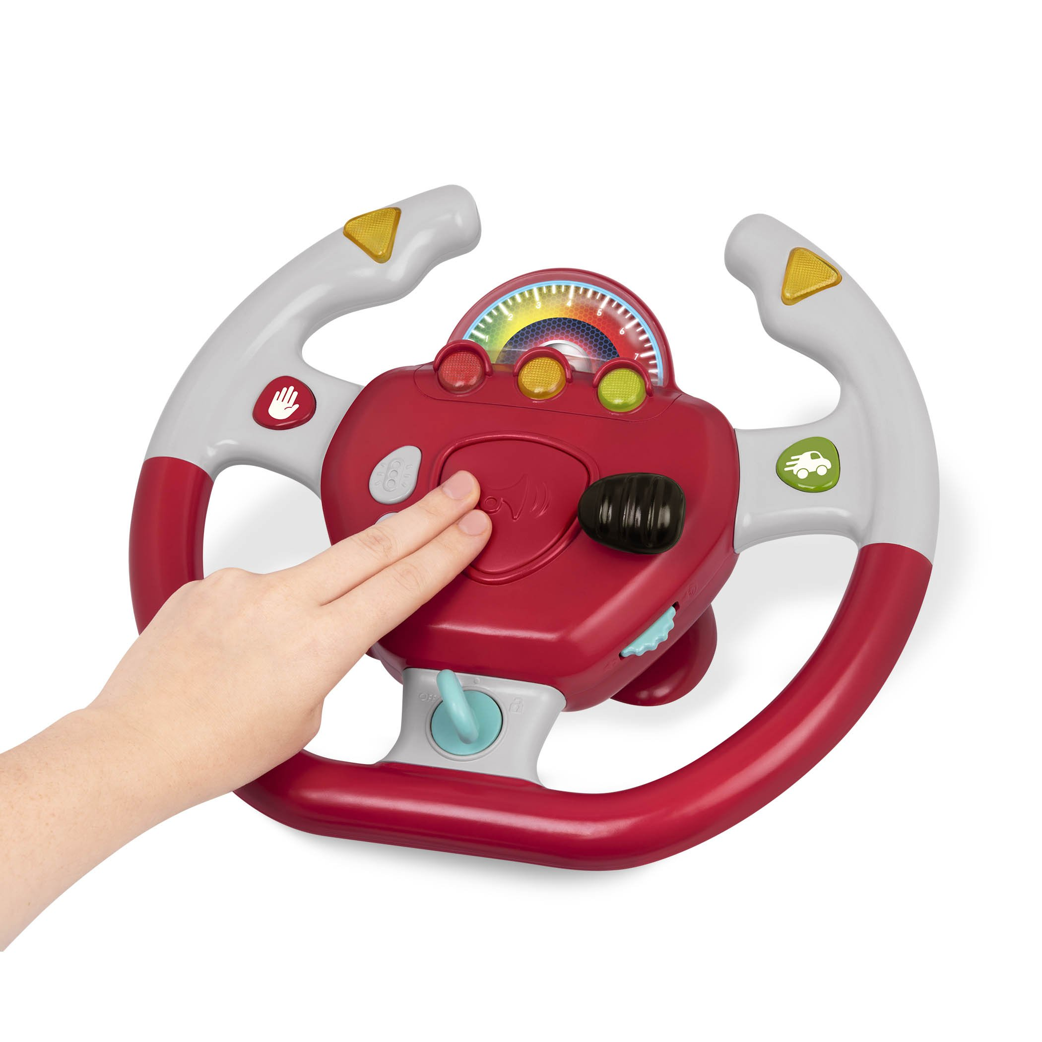 Battat - Geared to Steer Interactive Driving Wheel - Portable Pretend Play Toy Steering Wheel for Kids 2 years + by Battat (Image #3)