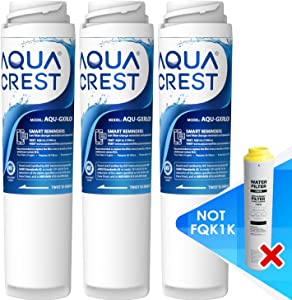 AQUA CREST Replacement Undersink GXRLQR Inline Water Filter, Compatible with GE SmartWater Twist and Lock in-Line GXRLQR (Pack of 3)
