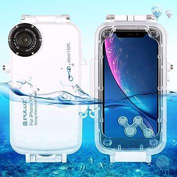 Egurs Estuche de Buceo a Prueba de Agua bajo el Agua iPhone XR, 40m / 130ft Estuche